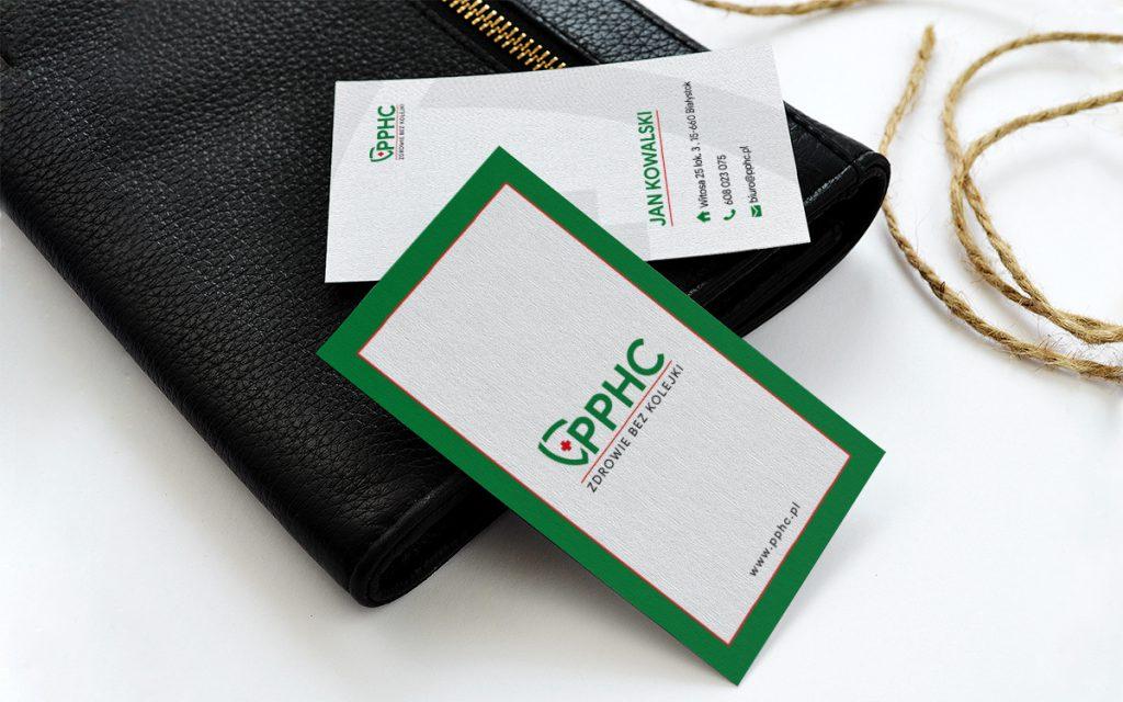 projekt wizytówki PPHC